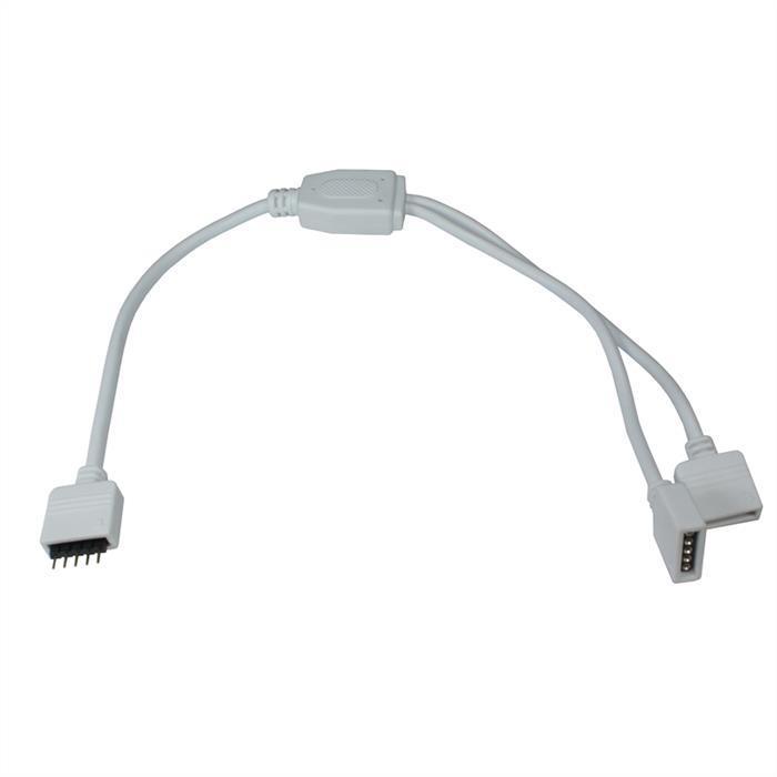 RGBW RGB+W Verteiler Adapter Kupplung / Verbinder 30cm ; 1x Eingang 2x Ausgang