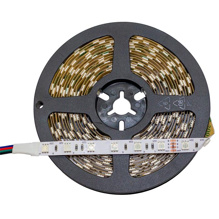 5m (500cm) RGB LED Streifen Band Leiste 24V IP20 300LEDs 60LED/m SMD5050