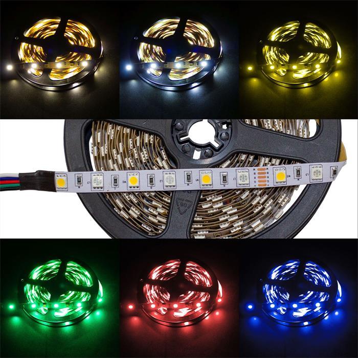 RGBWW RGB+WW 3000K LED Streifen Band Leiste 5m ; 12V IP20 300LEDs 5050