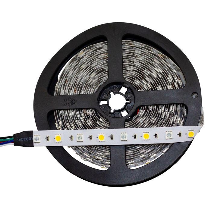 RGBW RGB+W 6000K LED Streifen Band Leiste 5m ; 24V IP20 300LEDs 5050