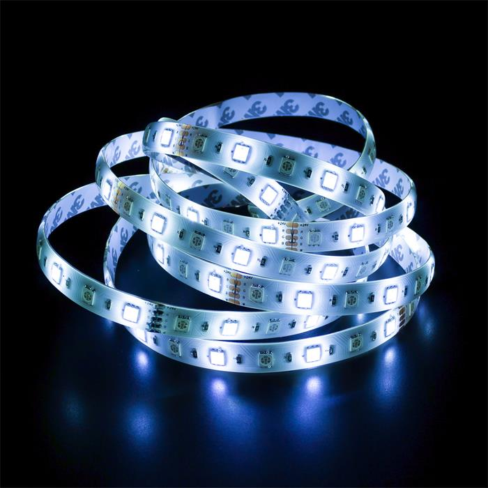 5m (500cm) RGBW 6000K LED Streifen Band Leiste 24V IP65 300LEDs 60LED/m SMD5050