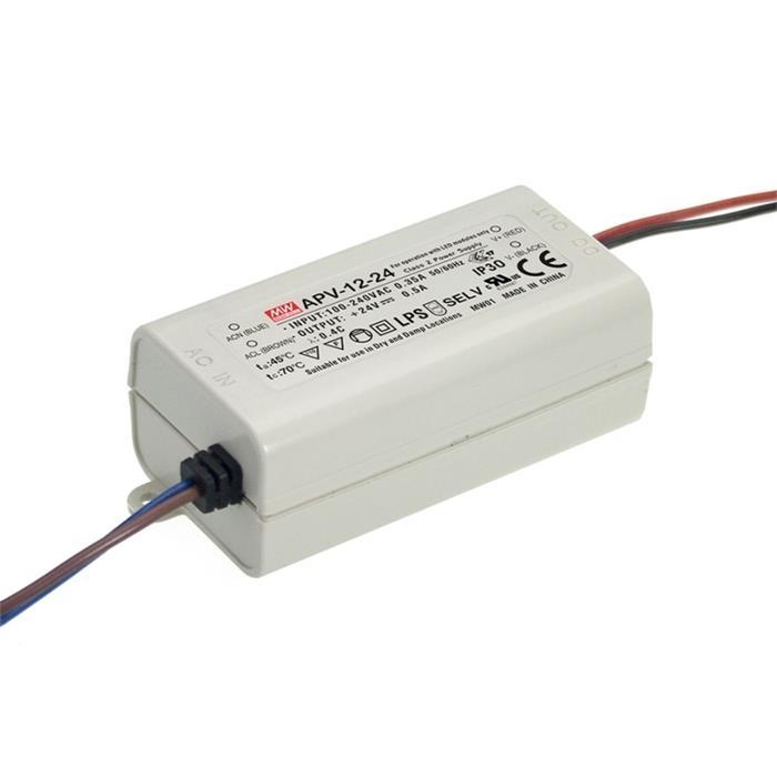 LED Netzteil 12W 15V 0,8A ; MeanWell, APV-12-15 ; Schaltnetzteil