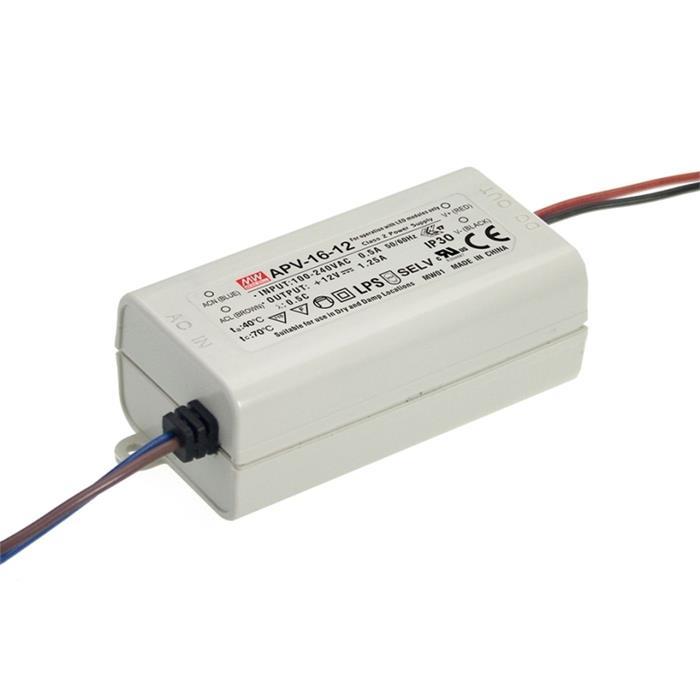 LED Netzteil 15W 12V 1,25A ; MeanWell, APV-16-12 ; Schaltnetzteil