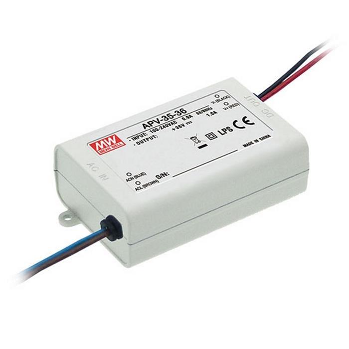LED Netzteil 36W 12V 3A ; MeanWell, APV-35-12 ; Schaltnetzteil