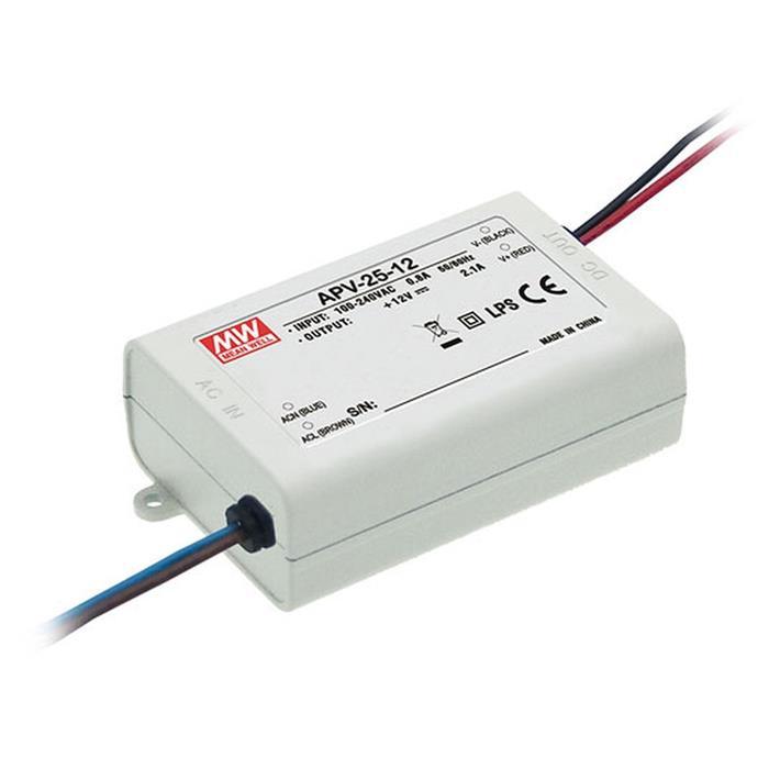 MeanWell APC-25-1050 25W 1050mA 9...24VDC Konstantstrom LED Netzteil