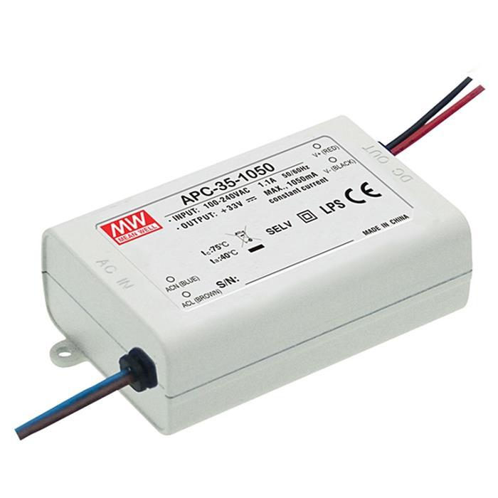 LED Netzteil 35W 15-50V 700mA ; MeanWell, APC-35-700 ; Konstantstrom
