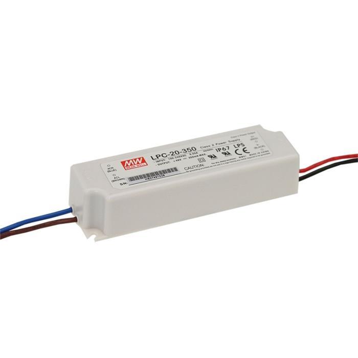 LED Netzteil 17W 9-48V 350mA ; MeanWell, LPC-20-350 ; Konstantstrom