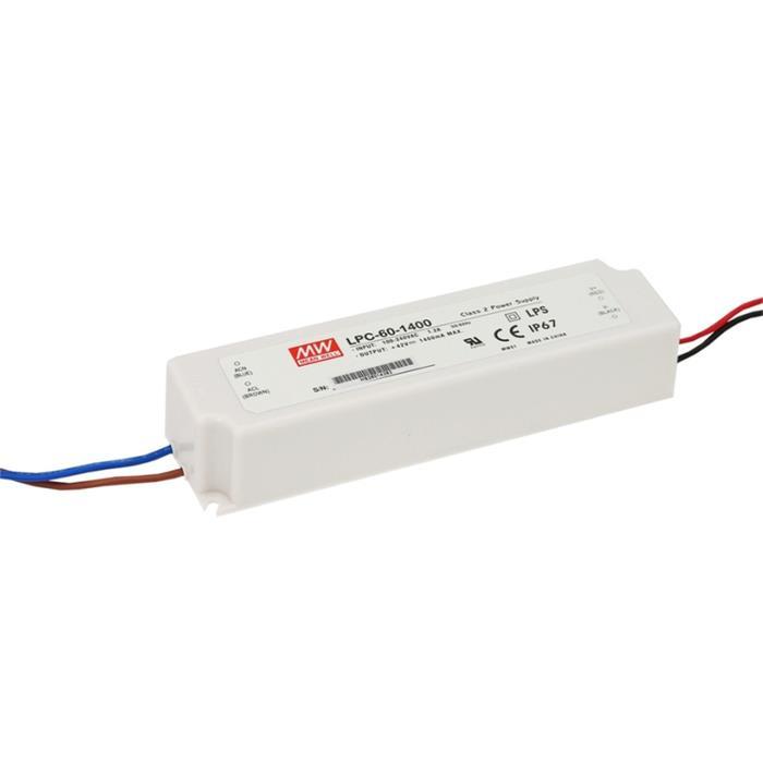 LED Netzteil 59W 9-42V 1400mA ; MeanWell, LPC-60-1400 ; Konstantstrom