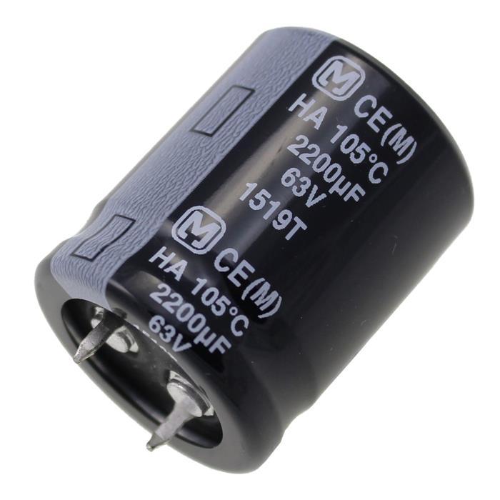 Snap-In Elko Kondensator 2200µF 63V 105°C ; ECEC1JA222CA ; 2200uF
