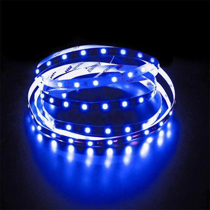 5m (500cm) LED Streifen Band Leiste 24V Blau IP20 300LEDs 60LED/m SMD2835