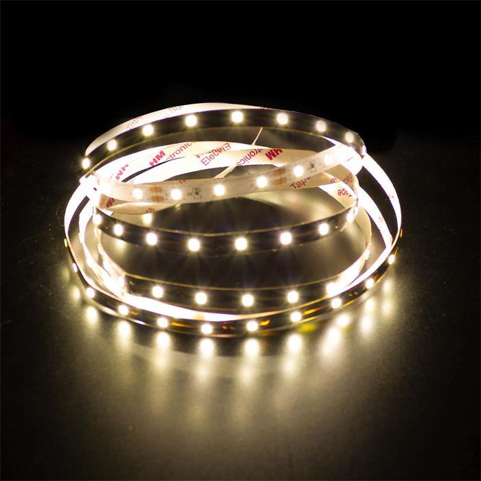 5m (500cm) LED Streifen Band Leiste 24V Warm-Weiß 3000K IP20 300LEDs 60LED/m SMD2835