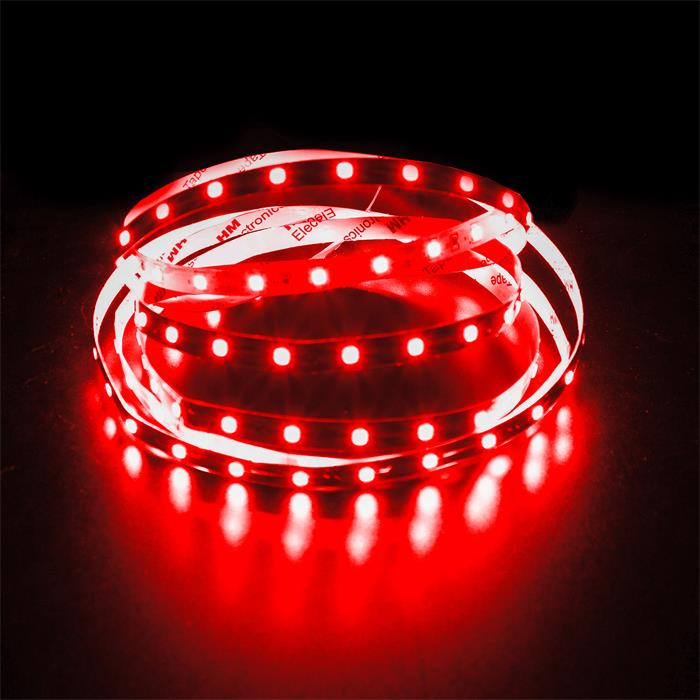 5m (500cm) LED Streifen Band Leiste 24V Rot IP20 300LEDs 60LED/m SMD2835