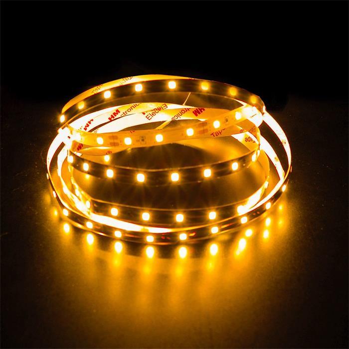 5m (500cm) LED Streifen Band Leiste 24V Gelb IP20 300LEDs 60LED/m SMD2835