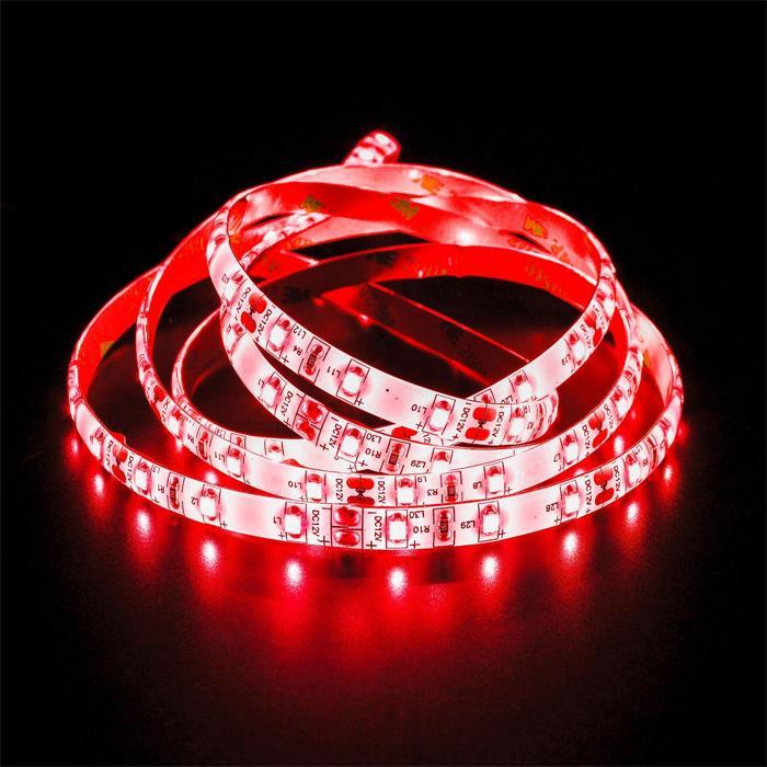 5m (500cm) LED Streifen Band Leiste 24V Rot IP65 300LEDs 60LED/m SMD2835