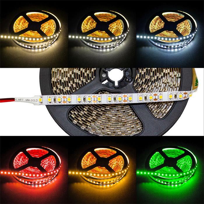 5m (500cm) LED Streifen Band Leiste 24V IP20 600LEDs 120LED/m SMD2835