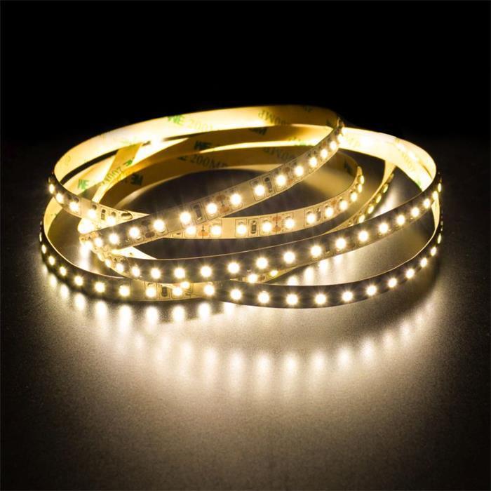 5m (500cm) LED Streifen Band Leiste 24V Warm-Weiß 3000K IP20 600LEDs 120LED/m SMD2835