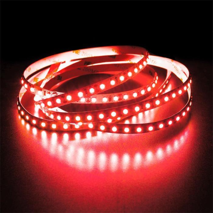 5m (500cm) LED Streifen Band Leiste 24V Rot IP20 600LEDs 120LED/m SMD2835
