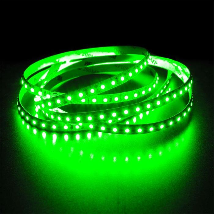 5m (500cm) LED Streifen Band Leiste 24V Grün IP20 600LEDs 120LED/m SMD2835