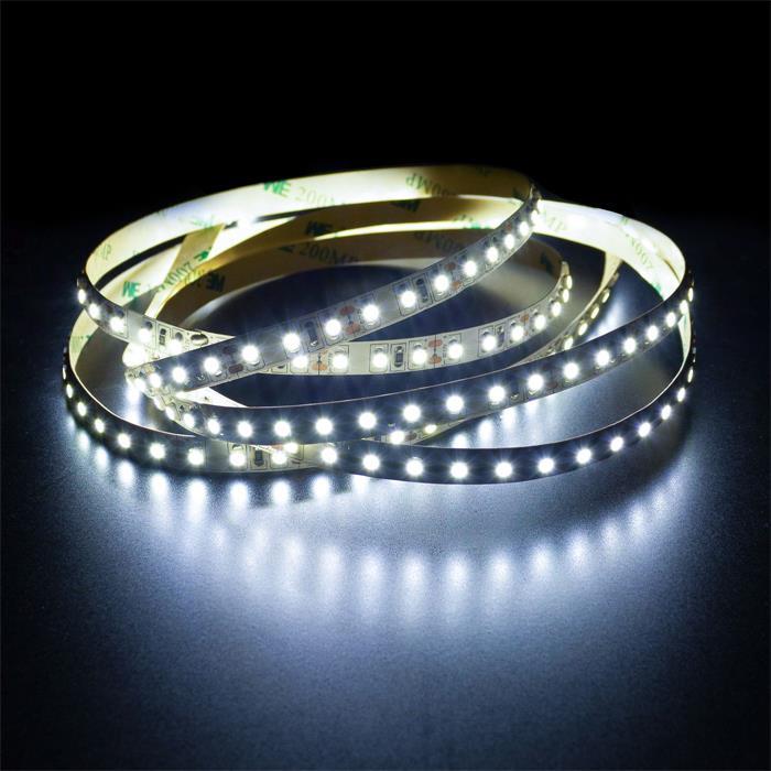 5m (500cm) LED Streifen Band Leiste 24V Kalt-Weiß 6000K IP20 600LEDs 120LED/m SMD2835