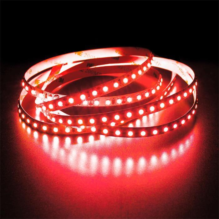 5m (500cm) LED Streifen Band Leiste 24V Rot IP20 600LEDs 120LED/m SMD2835