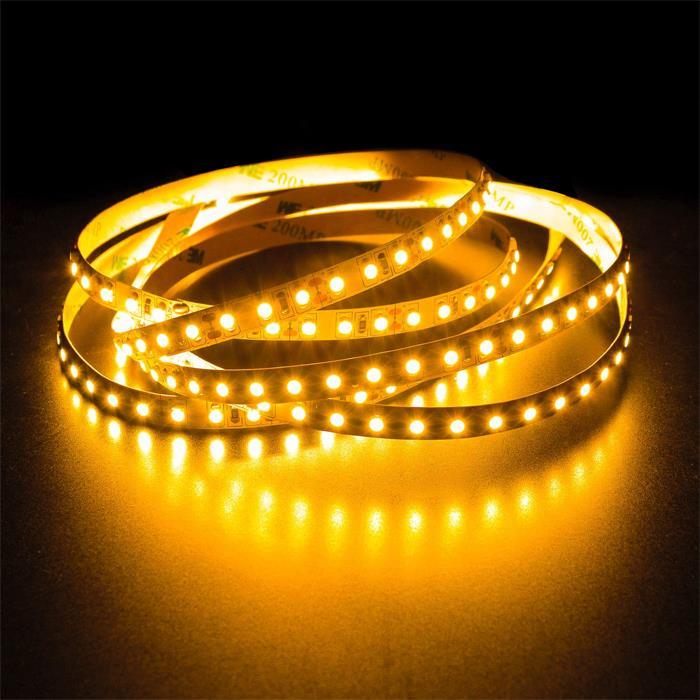 5m (500cm) LED Streifen Band Leiste 24V Gelb IP20 600LEDs 120LED/m SMD2835