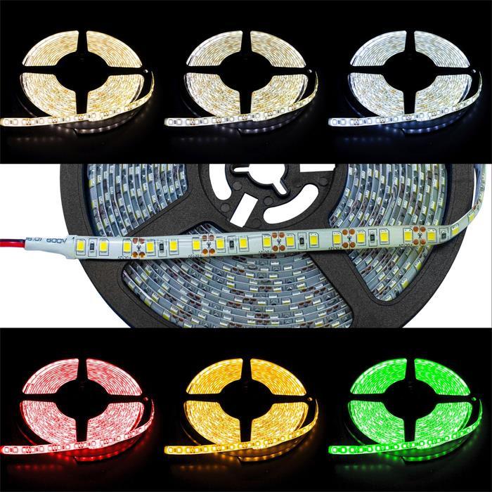LED Streifen Band Leiste 500cm 5m ; 24V Wasserfest IP65 600LEDs