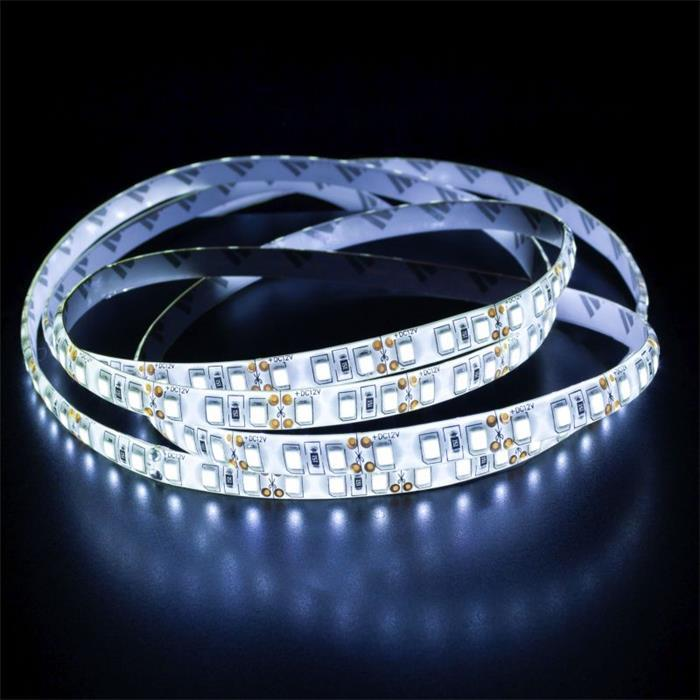 5m (500cm) LED Streifen Band Leiste 24V Kalt-Weiß 6000K IP65 600LEDs 120LED/m SMD2835