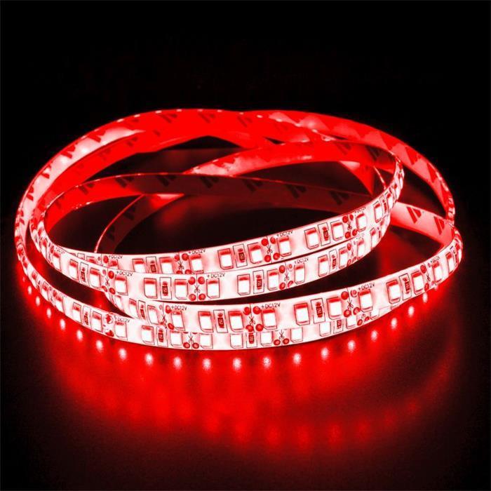 5m (500cm) LED Streifen Band Leiste 24V Rot IP65 600LEDs 120LED/m SMD2835