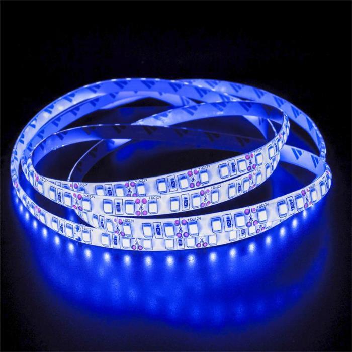 5m (500cm) LED Streifen Band Leiste 24V Blau IP65 600LEDs 120LED/m SMD2835