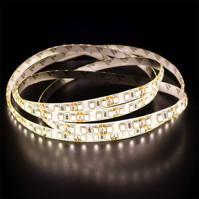 5m (500cm) LED Streifen Band Leiste 24V Warm-Weiß 3000K IP65 600LEDs 120LED/m SMD2835