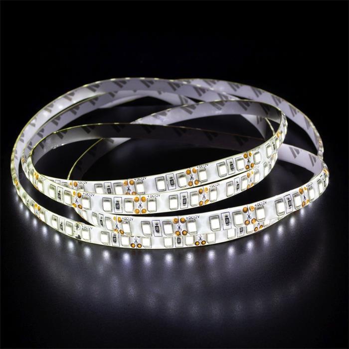 5m (500cm) LED Streifen Band Leiste 24V Neutral-Weiß 4500K IP65 600LEDs 120LED/m SMD2835