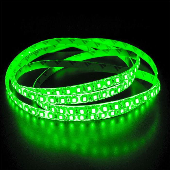 5m (500cm) LED Streifen Band Leiste 24V Grün IP65 600LEDs 120LED/m SMD2835