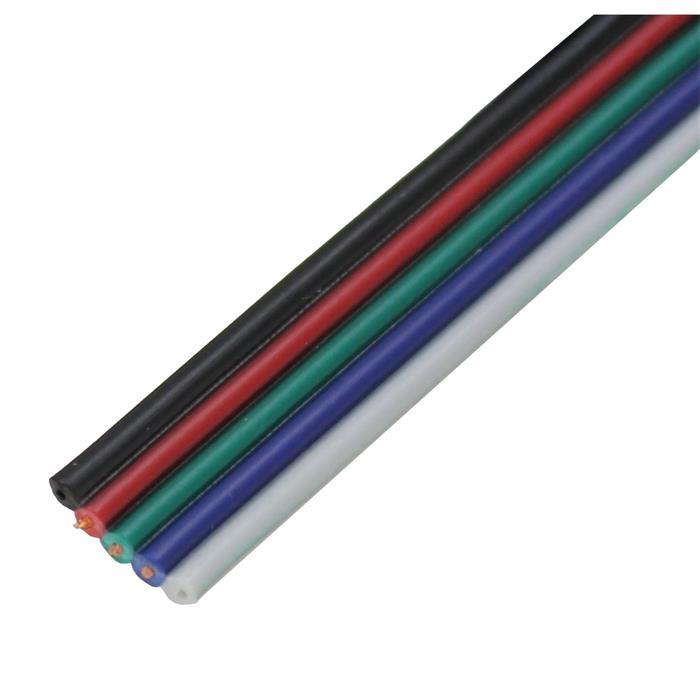 RGBW Verlängerung Kabel Leitung 50m ; Verlängerungskabel 5-adrig
