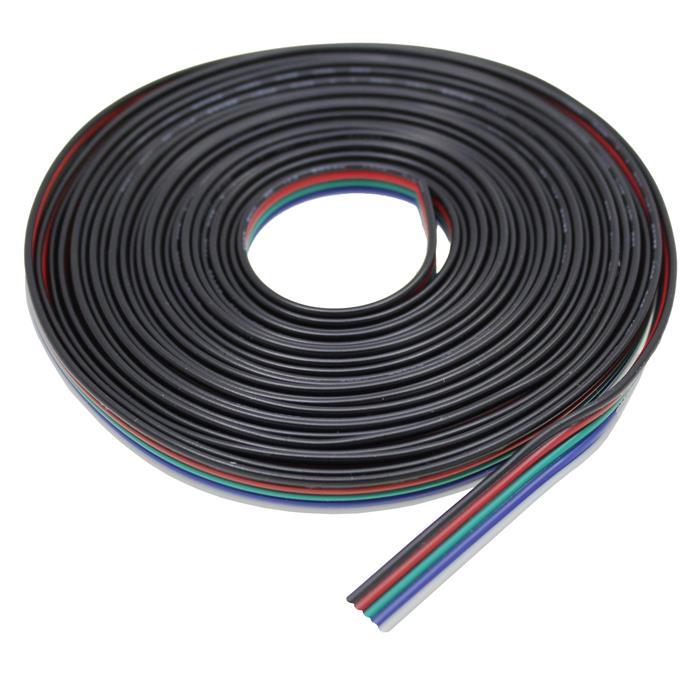 RGBW Verlängerung Kabel Leitung 5m 10m 20m 50m ; Verlängerungskabel 5-adrig