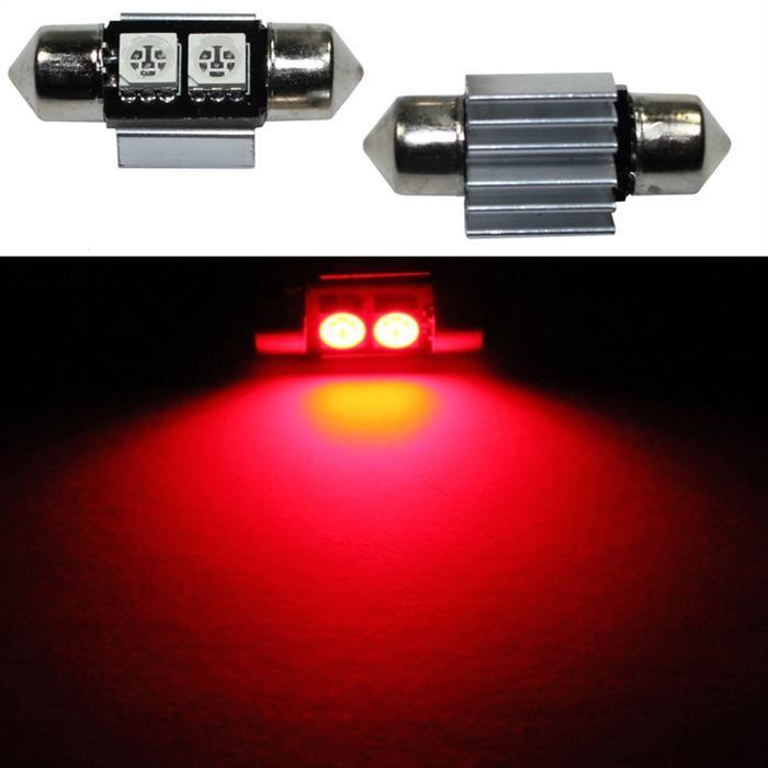 LED Soffitte 31mm C5W ROT Canbus Innenraum- und Deko-Beleuchtung