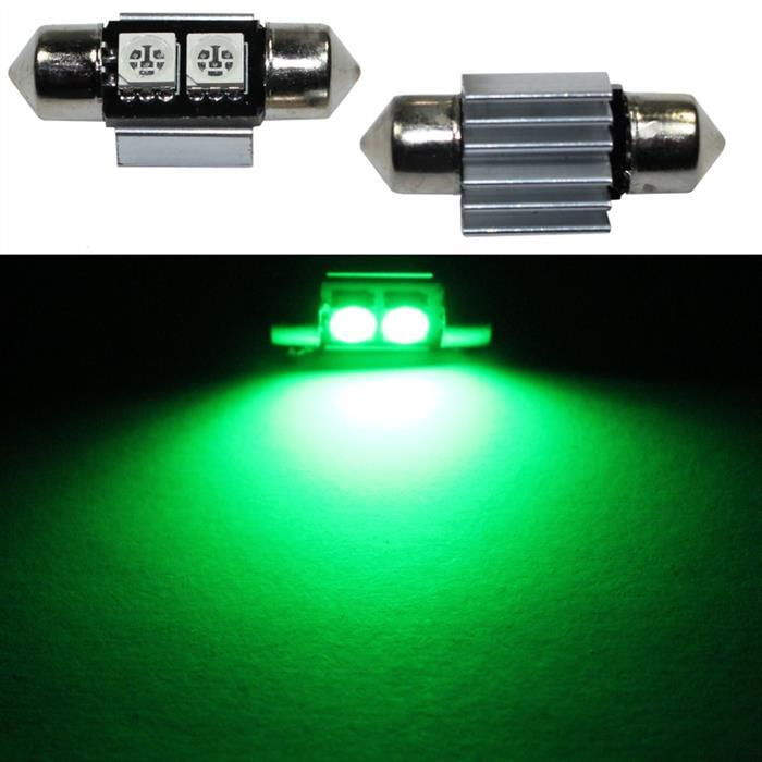 LED Soffitte 31mm C5W GRÜN Canbus Innenraum- und Deko-Beleuchtung