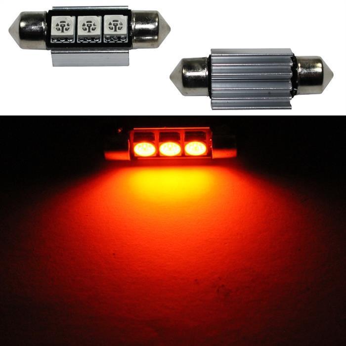 LED Soffitte 36mm C5W ORANGE Canbus 12V Innenraum- und Deko-Beleuchtung