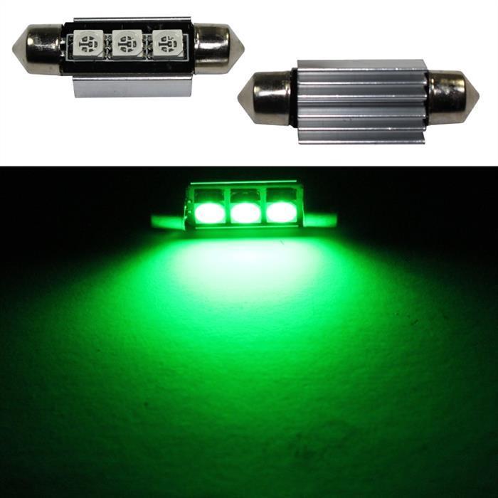 LED Soffitte 39mm C5W GRÜN Canbus 12V Innenraum- und Deko-Beleuchtung