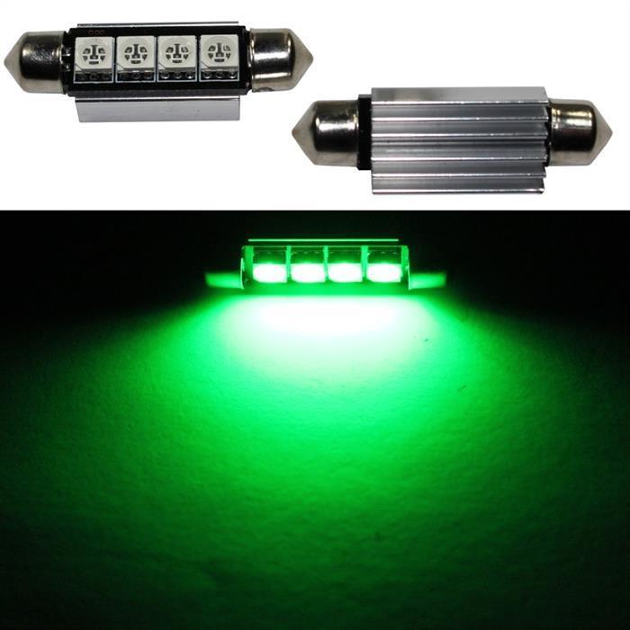 LED Soffitte 42mm C10W GRÜN Canbus Innenraum- und Deko-Beleuchtung