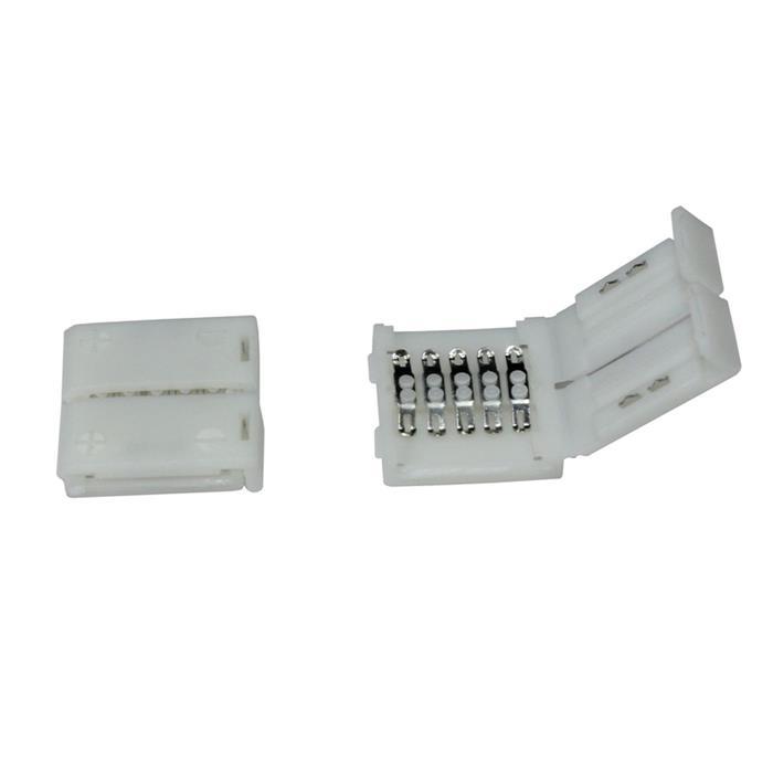 Verbinder / Connector für RGBW RGB+W 10mm LED-Streifen ; 1 Clip