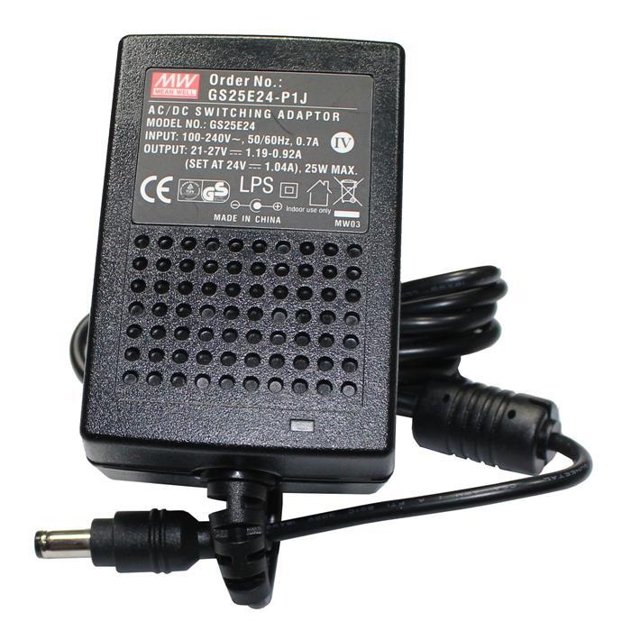 Steckernetzteil 25W 24V 1A ; EU-Plug 5,5/2,1mm ; Schaltnetzteil ; GS25E24