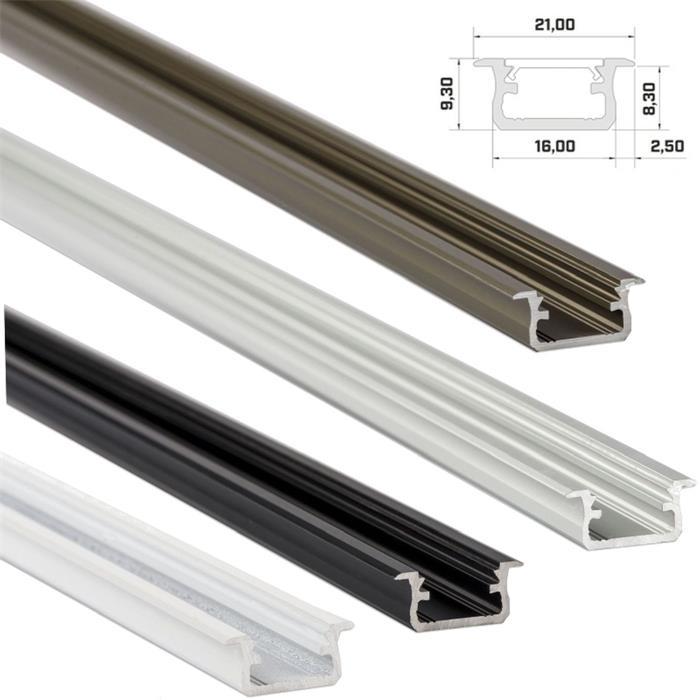 LED-PROFILI-IN-ALLUMINIO-COPERCHI-clip-anellini-ALLUMINIO-ROTAIA miniatura 5