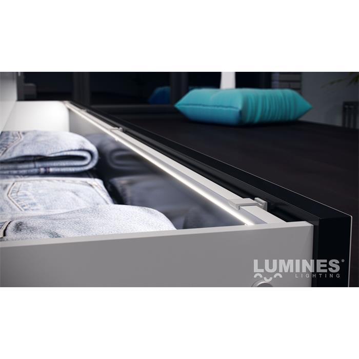 LED Aluminium Profil 1m 23mm 90° Eckprofil Alu Schiene für LED Streifen Schwarz