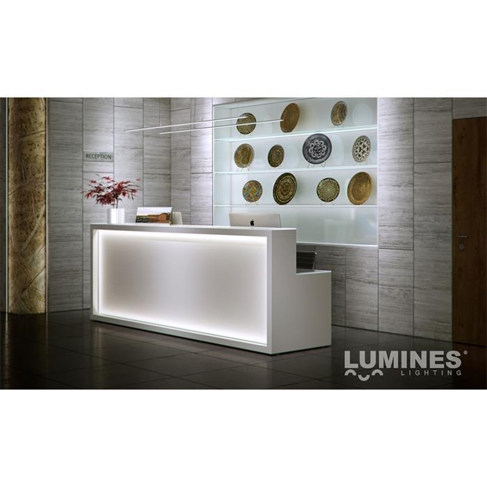 LED Aluminium Profil 1m extra hoch 17x18mm für LED Streifen ; Inox / Champagner