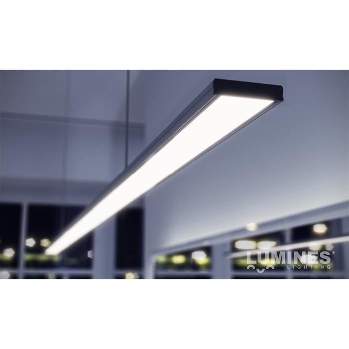 LED Aluminium profile extra wide 1m 43x9mm ; for LED strips ; Inox