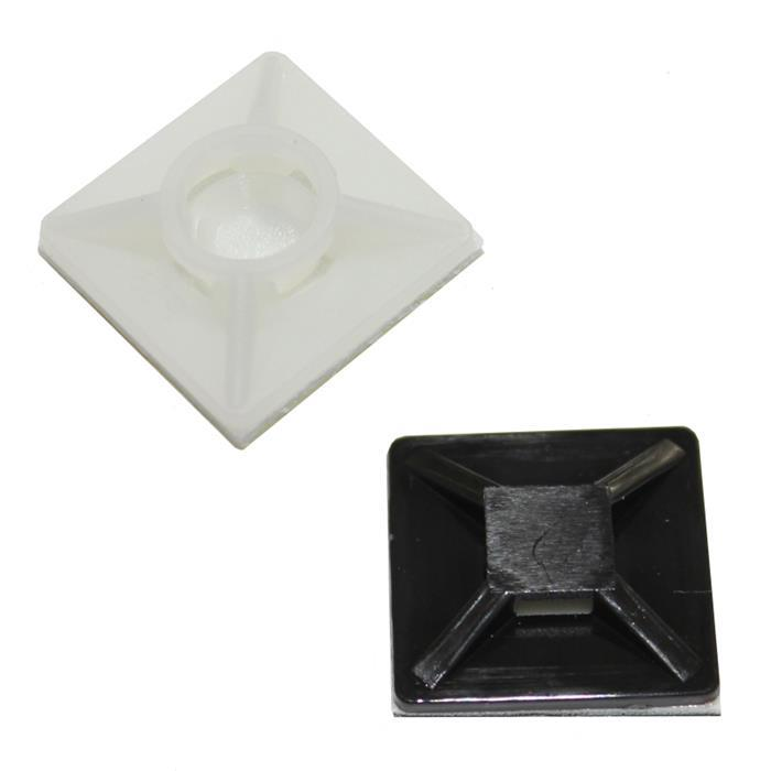 100x Klebesockel für Kabelbinder 20x20mm selbstklebend