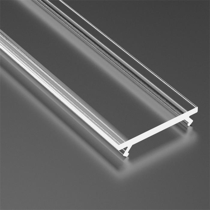 1m Abdeckung für Lumonic Typ A, B, C, H, Y, Cosmo, Reto LED Profile Halter Kunststoff Transparent
