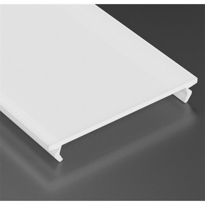 LED Profil Abdeckung 1m, Breite 38mm für Profil Typ SOLIS ; Milchig/Matt