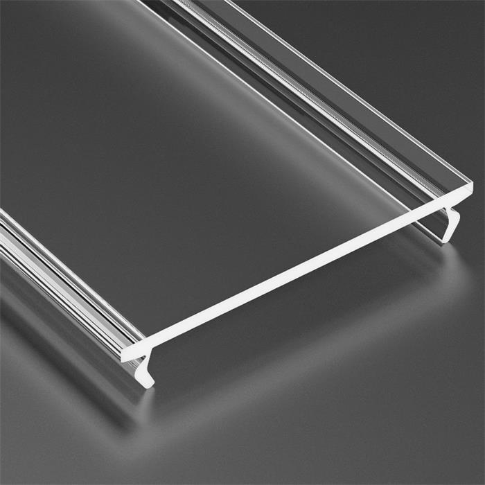 1m Abdeckung für Lumonic Typ Solis LED Profile Halter Kunststoff Transparent