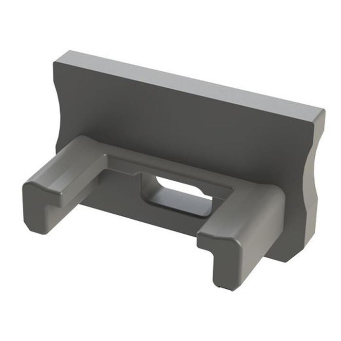 Endkappe für Lumonic Typ A LED Profile Halter Kunststoff Silber